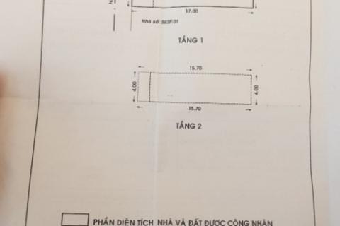 Bán nhà 111/4/13 Vườn Lài, 4x17, 1 lầu, hẻm 5m gần Lũy Bán Bích, 6 tỷ
